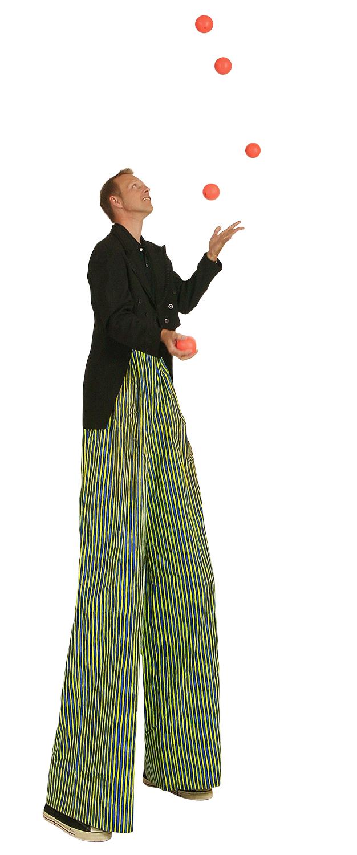 Image result for juggler on stilts